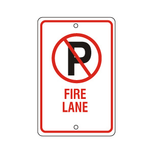Fire Lane Sign Red