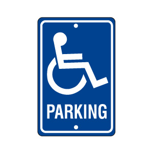 Handicapped Parking Sign Style 1