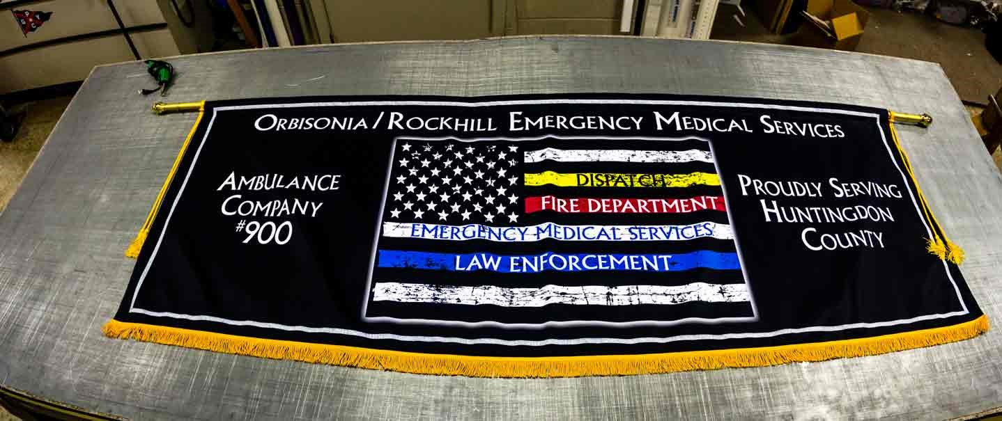 EMS Flag Parade Banner