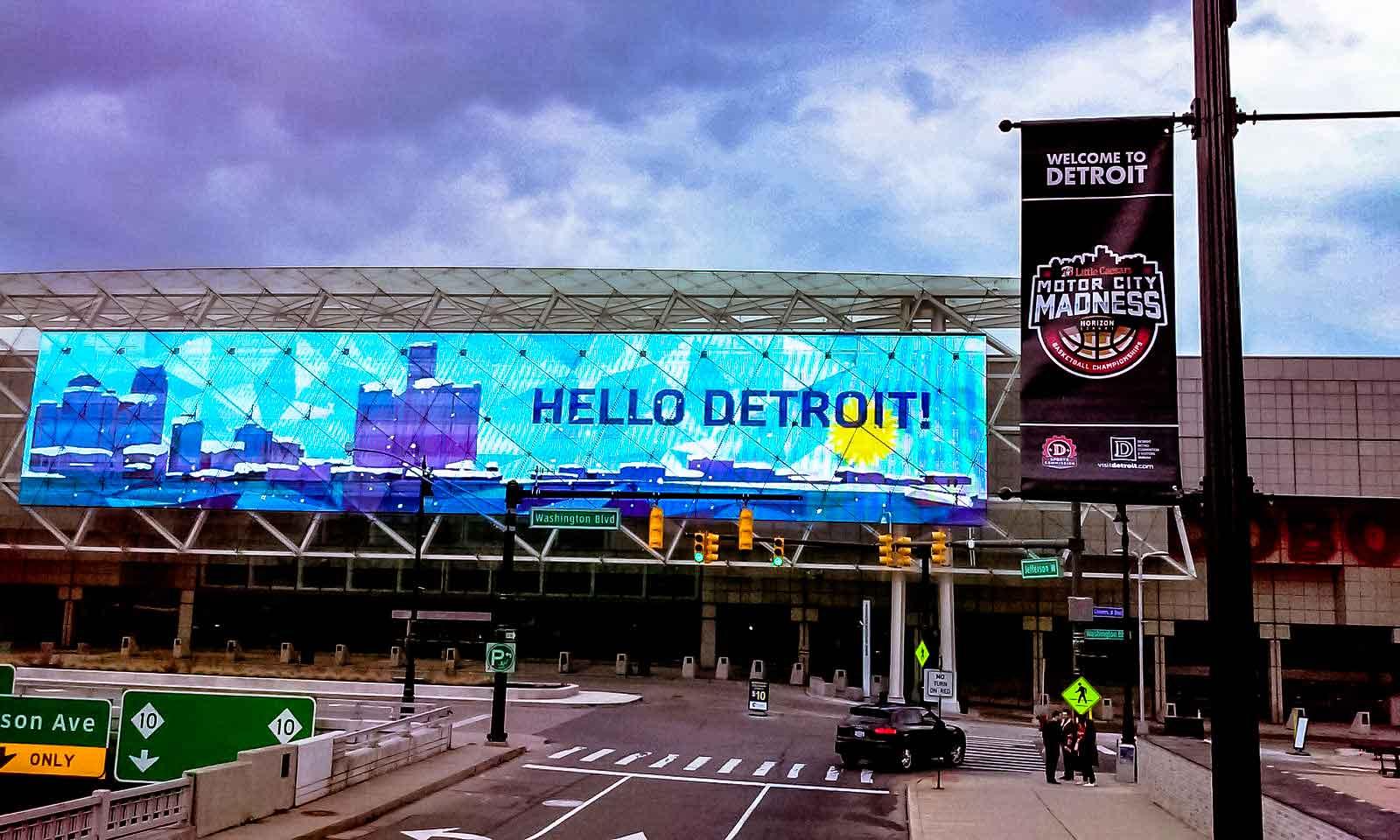 Hello Detroit - Sign