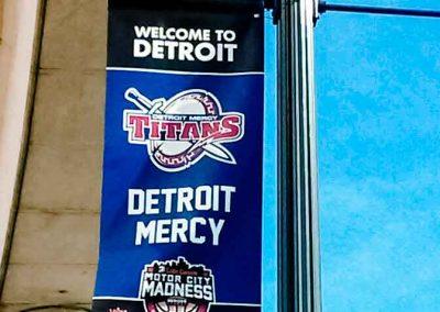 Detroit Mercy Titans LightPole Welcome Banner