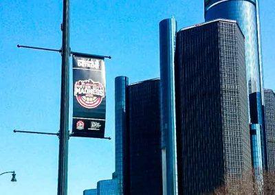 MCM 17 LP Banner and Ren Cen Detroit