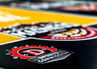 High-Detail Macro Shot of Motor City Madness Banner