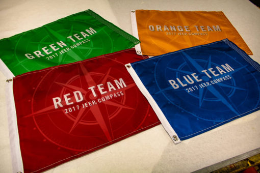 Custom Flags for a Client Road Rally