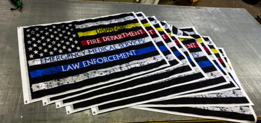 A whole Stack of custom Flags for EMS co 900