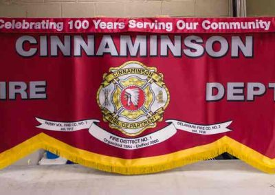 Cinnaminson Ceremonial Parade Banner with Removable Sash