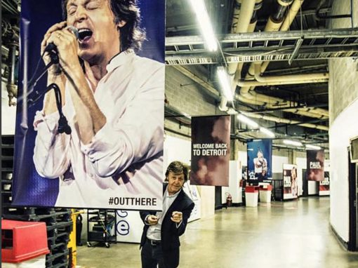 Sir Paul Poses With One of Our Posters